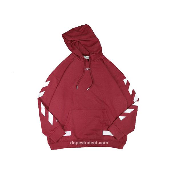 off-white 2017fw burgundy hoodie | dopestudent WBGAICU