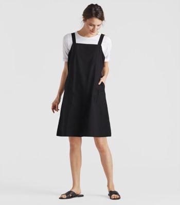 organic cotton poplin jumper dress | eileen fisher GSXKLPF