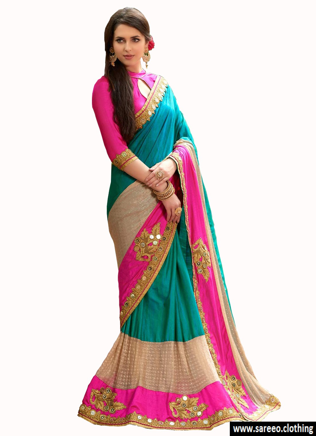 Party Wear Sarees download this photo. new designer multi color party wear bollywood  traditional ethinic wear saree XHBJMLN