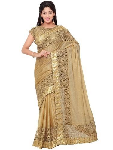 Party Wear Sarees golden party wear saree AIIGRCR