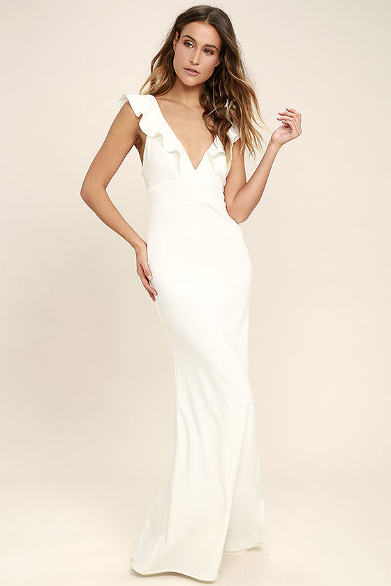 perfect opportunity white maxi dress SNAXBML