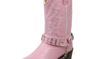Pink Cowboy Boots amazon.com | durango lilu0027 pink n chrome bt568 western boot (toddler/little  kid/big kid) | VGIHDFV