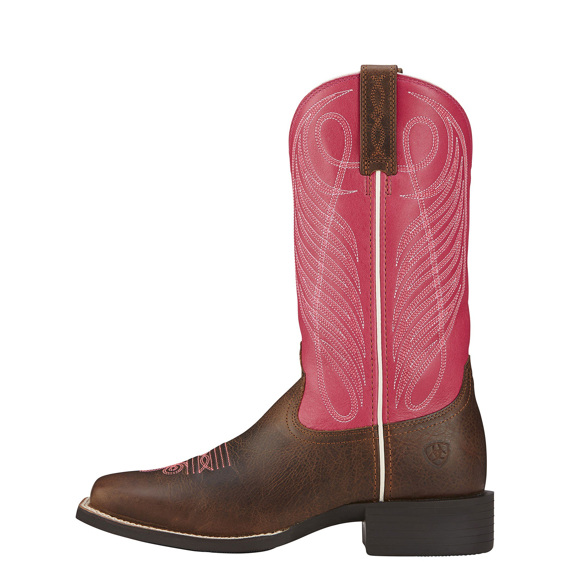 Pink Cowboy Boots ariat womens round up square toe cowgirl boots hot pink TBJTAZZ