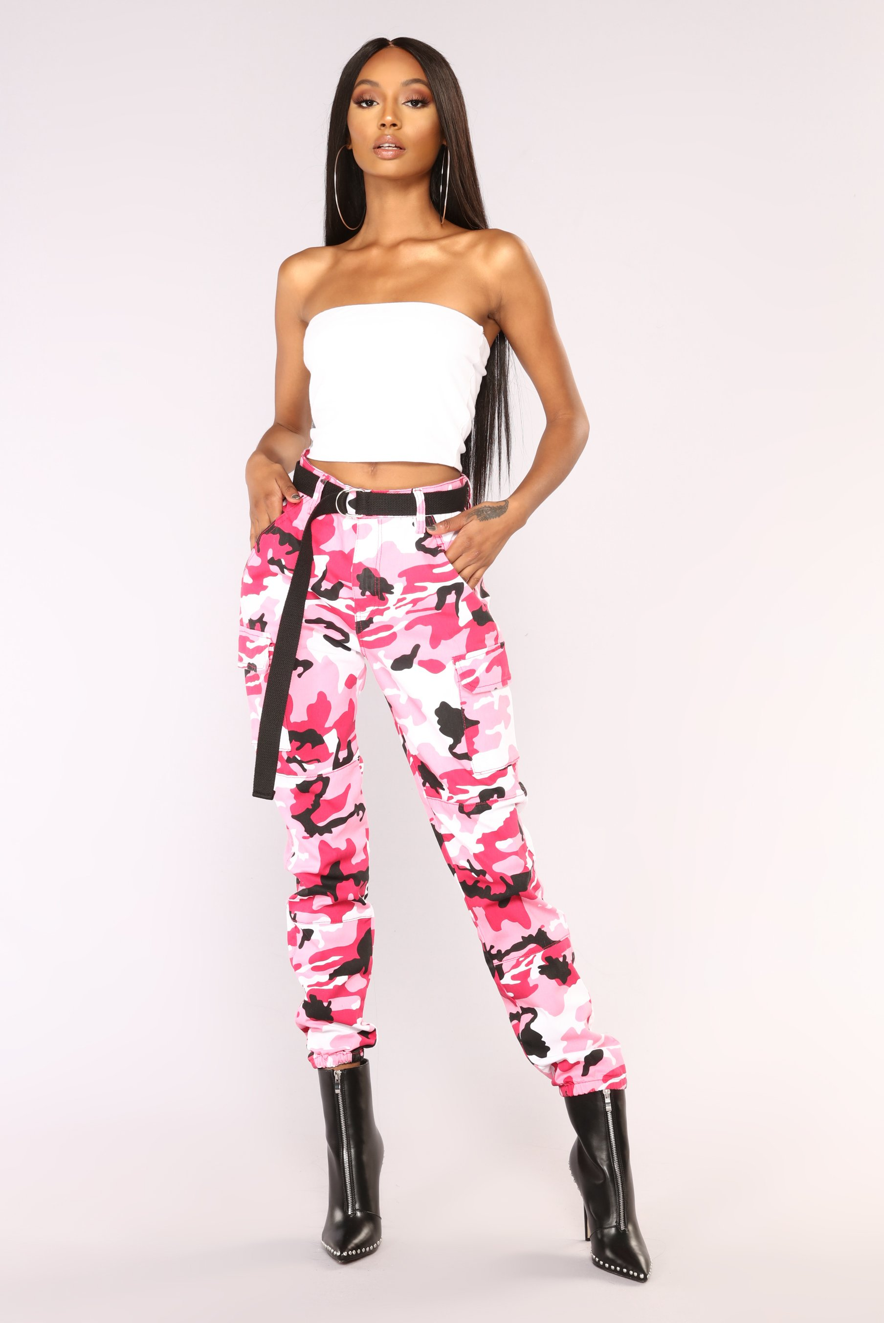 Pink Pants cadet kendall oversized camo pants - pink JMYRSOJ