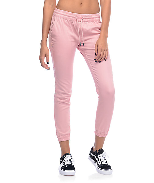 Pink Pants fairplay pink runner jogger pants ... QYKYIJY
