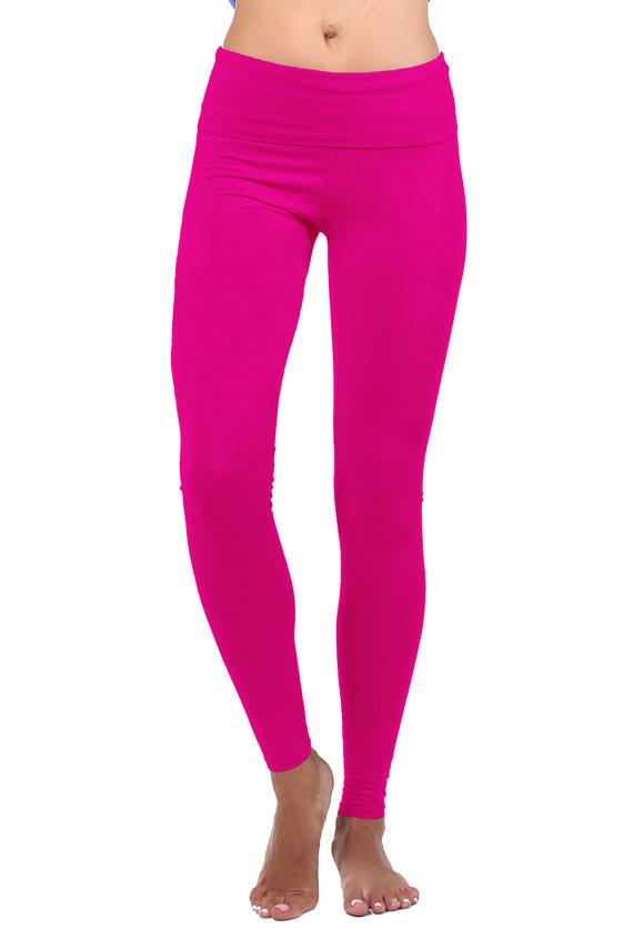 Pink Pants yoga pants women yoga leggings yoga clothes hot pink pants UYLESWU