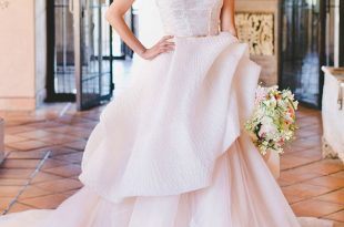 Pink Wedding Dresses blush pink wedding gown by lazaro WMRIRJT
