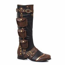 Pirate Boots black brown steampunk pirate renaissance fair costume mens boots size 11 12  13 JZEGBEU