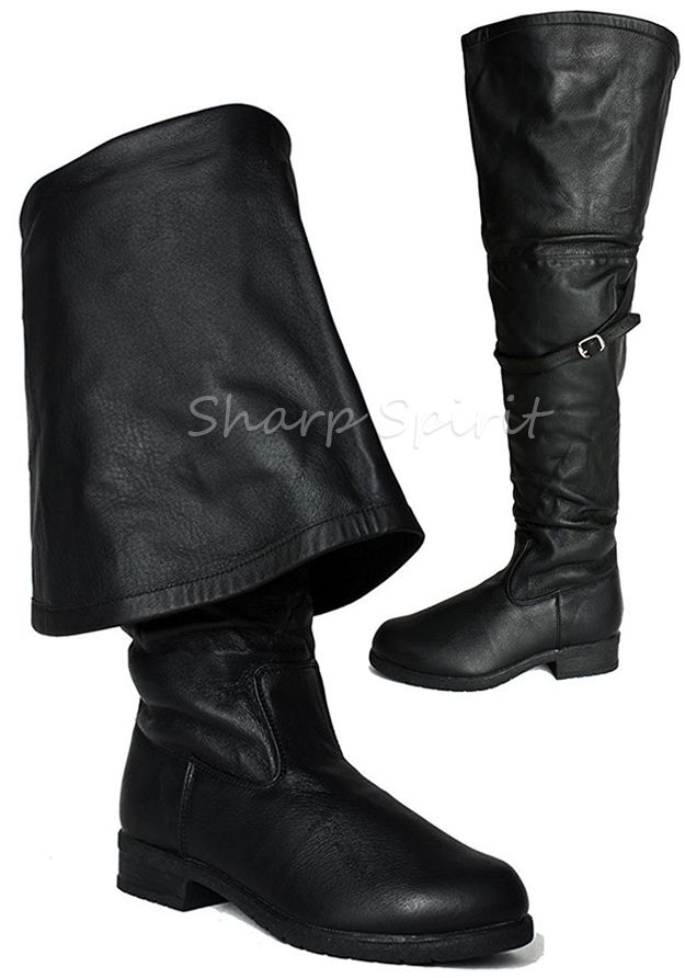 Pirate Boots fold over cuff pirate boots - sharp spirit THPBZNR