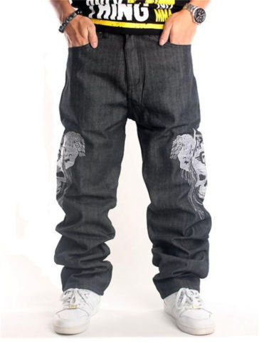 pizoff menu0027s hip hop baggy jeans denim with exaggerated embroidery j9002 ZRRITZY