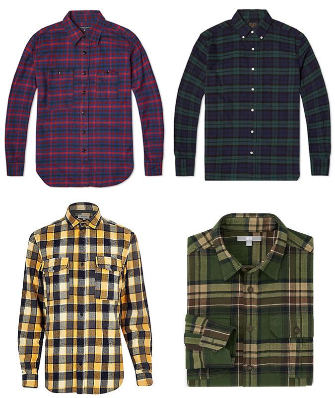 Plaid Shirts for Men menu0027s plaid cotton flannel shirts VIIOWES