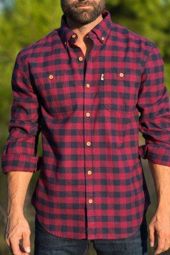 Plaid Shirts for Men menu0027s waxhaw buffalo plaid flannel - pipestone BMZVYAK