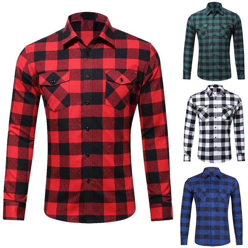 Plaid Shirts for Men nibesser cotton menu0027s shirts flannel plaid ... SYVUXQJ