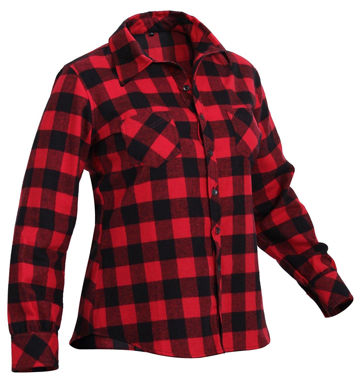 plaid shirts rothco womens plaid flannel shirt - red, x-large VWKNNYI