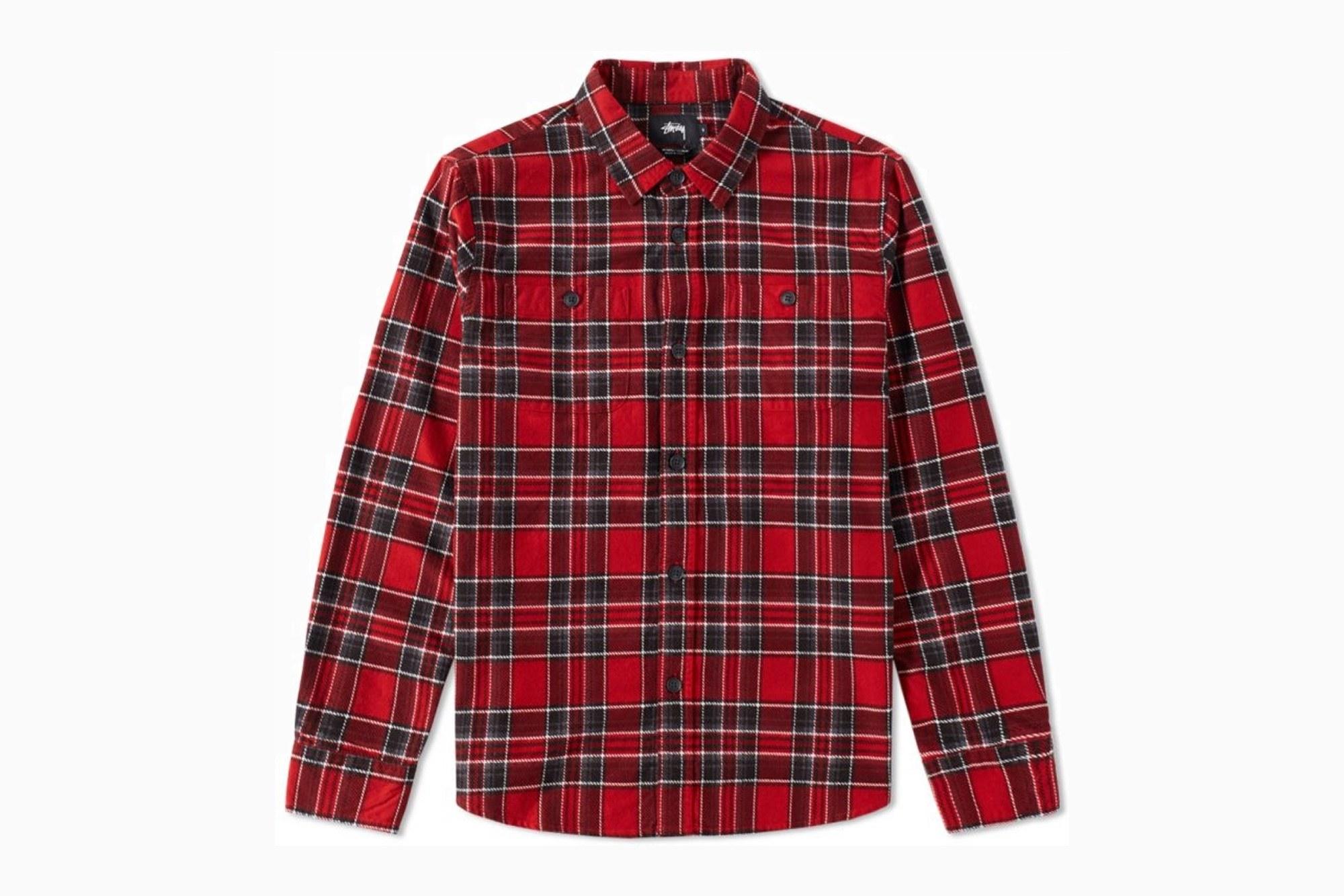 plaid shirts stussy double brush flannel shirt (was $155) VOALATI