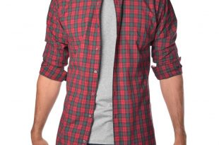 plaid shirts the soft-wash tall button up shirt in red plaid | american tall PRLWADX