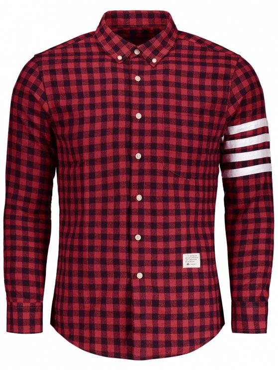 plaid shirts unique button down plaid shirt - red 2xl RATJACJ