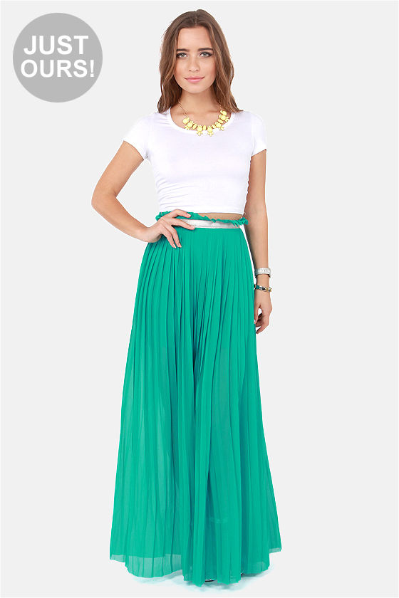 pleated maxi skirt lulus exclusive right pleats, right time teal maxi skirt DRZGPHU