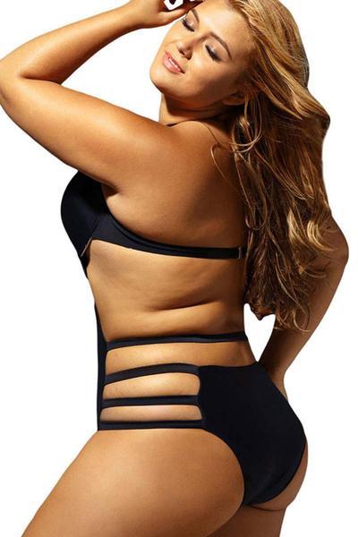Plus size bikinis ellady black underwired plus size bikini VANHTPQ