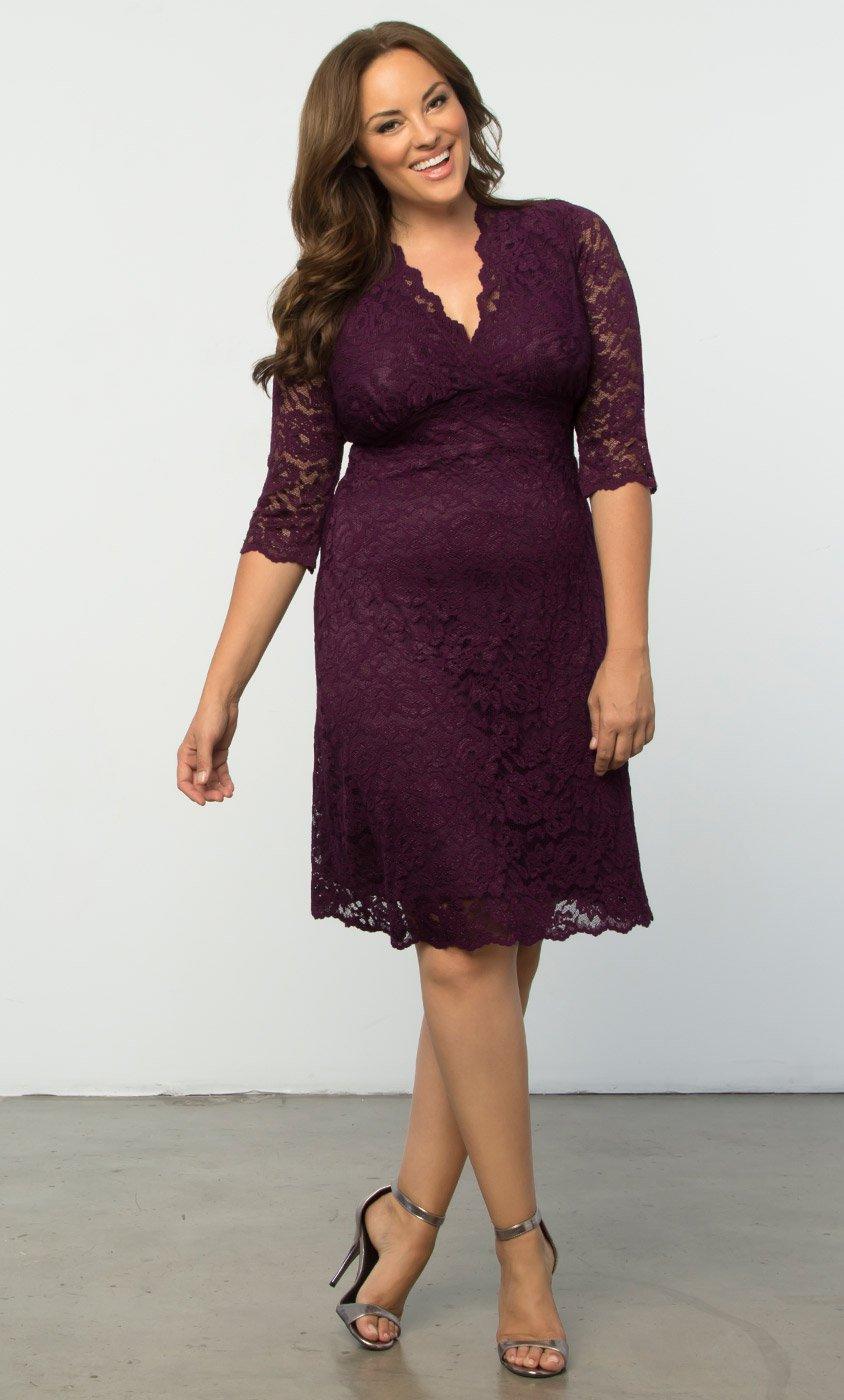 plus size dresses plus size lace dress | scalloped boudoir lace dress by kiyonna CEWFJKR