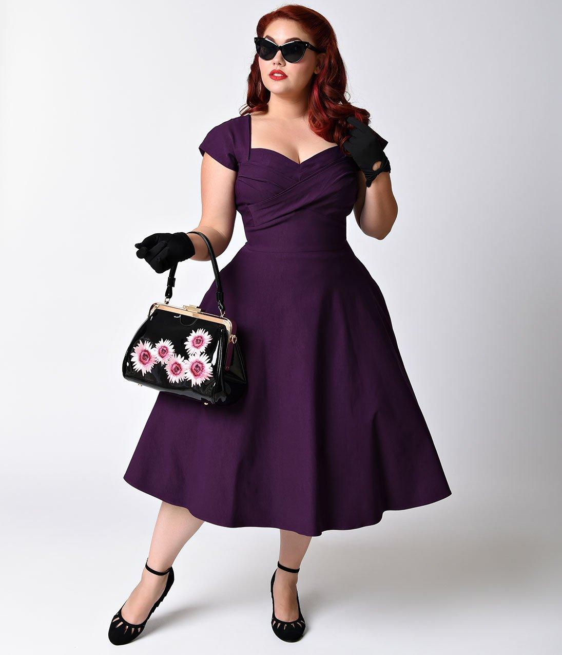 plus size dresses plus size mad style eggplant cap sleeve swing dress CHYZUCZ