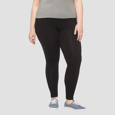 plus size leggings womenu0027s plus size leisure leggings pants black - ava u0026 viv™ CXAAVZB
