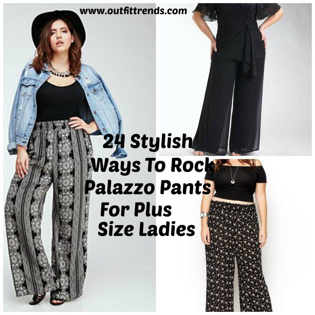 plus size palazzo pants palazzo pants for plus size-24 palazzo outfit ideas for curvy girls AGGTYLJ