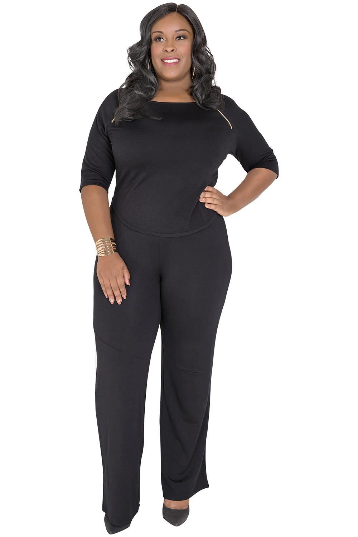 plus size palazzo pants plus size wide-leg palazzo pants black MWCYSNS