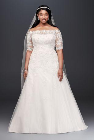Plus Size Wedding Dress long a-line formal wedding dress - jewel EVHLZEY