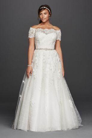 Plus Size Wedding Dress long a-line formal wedding dress - jewel RTRDYLB