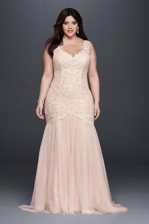 Plus Size Wedding Dress long mermaid/ trumpet boho wedding dress - galina signature QIDXMLO