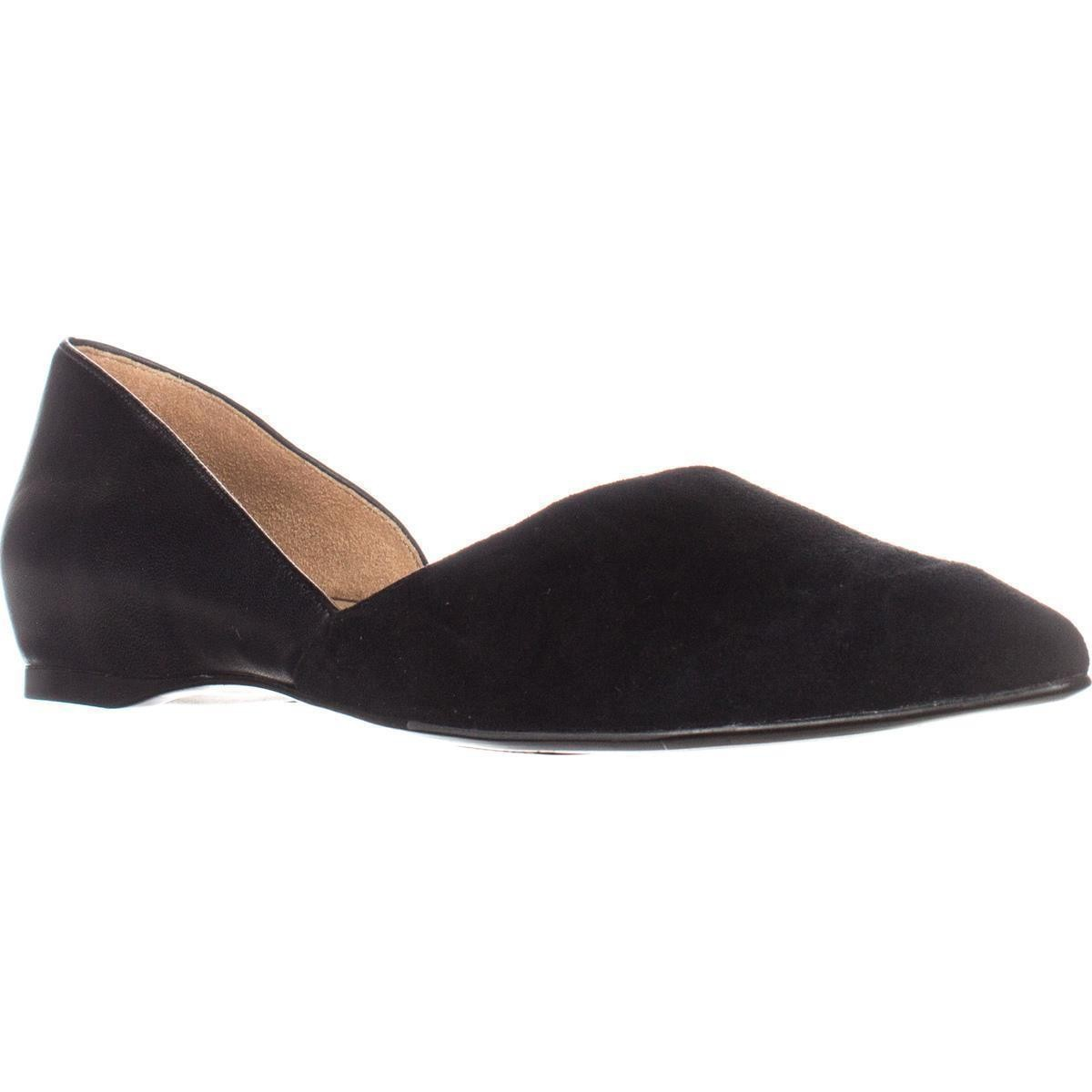Pointed Toe Flats naturalizer samantha pointed toe flats, black leather ZFJEHNM
