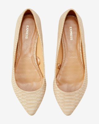 Pointed Toe Flats snake print pointed toe flats | express GSFKYCJ