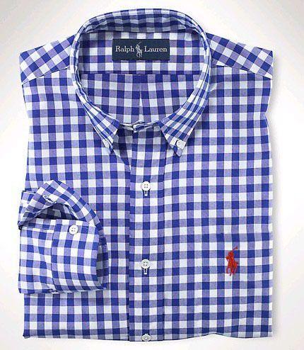 Polo Dress Shirts polo ralph lauren mens checked dress shirt blue LOEMAXM