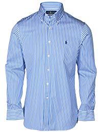 Polo Dress Shirts ralph lauren menu0027s slim fit plaid button-down shirt KZCUNET