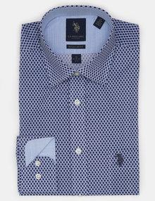 Polo Dress Shirts spread printed dress shirt SENHQAT