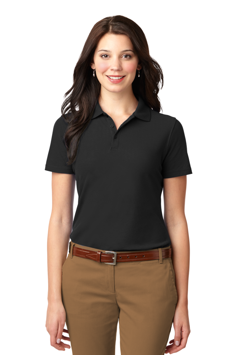 polo shirts for women queensboro lift embroidered womenu0027s luxury hybrid jersey polo BWXGLQV