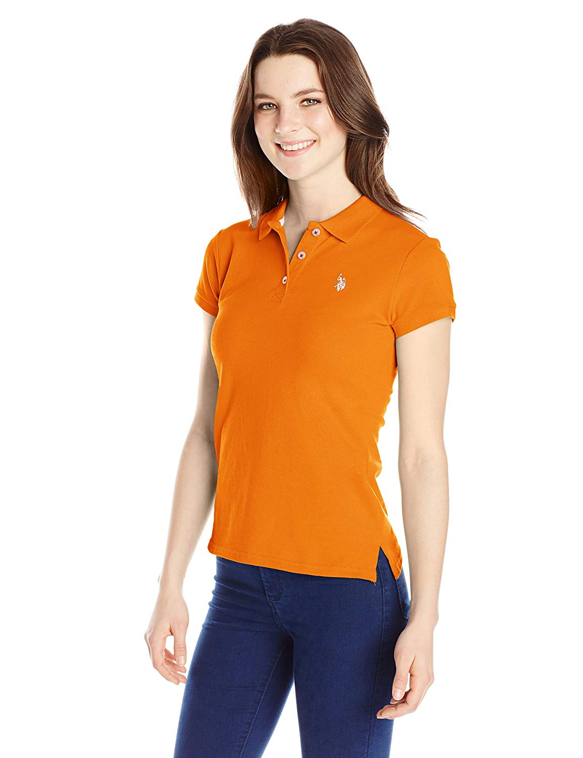 polo shirts for women u.s. polo shirt assn. juniorsu0027 short-sleeve polo shirt at amazon womenu0027s  clothing store: OPZTZNZ
