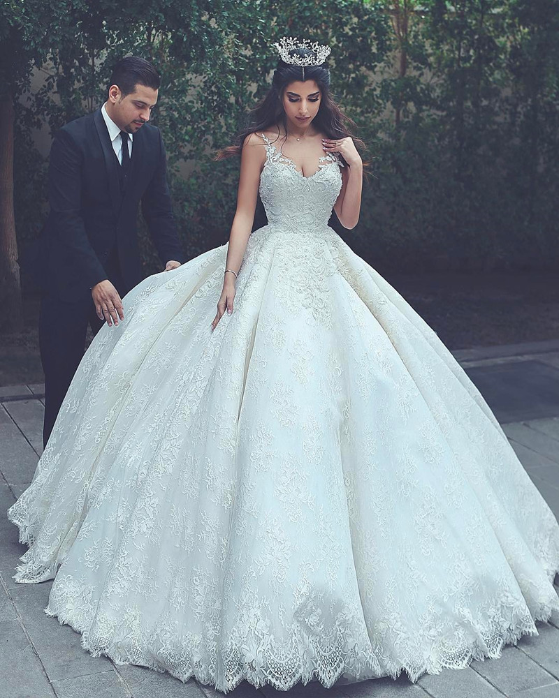 Princess Wedding Dresses lace wedding gowns,princess wedding dress,ball gowns wedding dress,vintage wedding  dress TRXOYBT