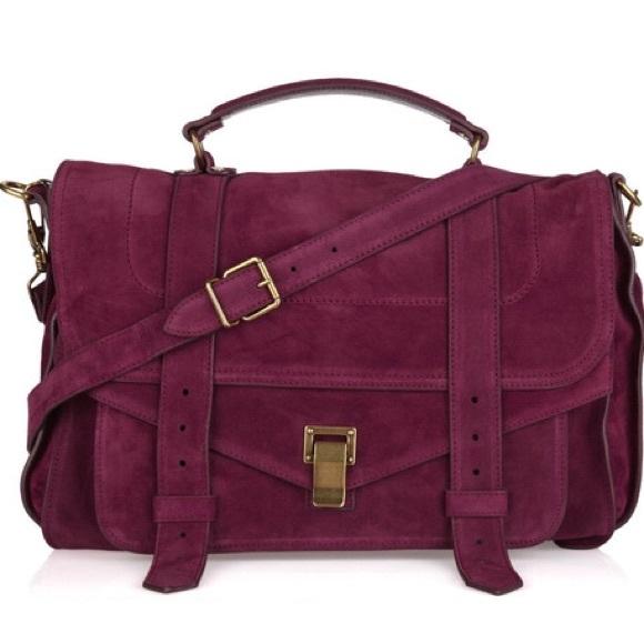 proenza schouler bag proenza schouler raspberry ps1 large suede satchel NXAKJSC