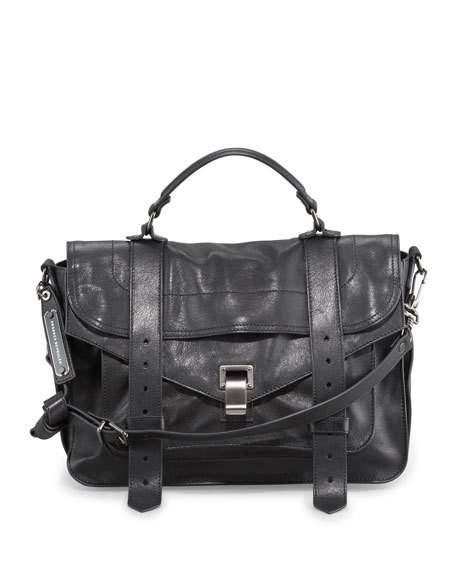 proenza schouler bag ps1 medium satchel bag, black IVYETCK