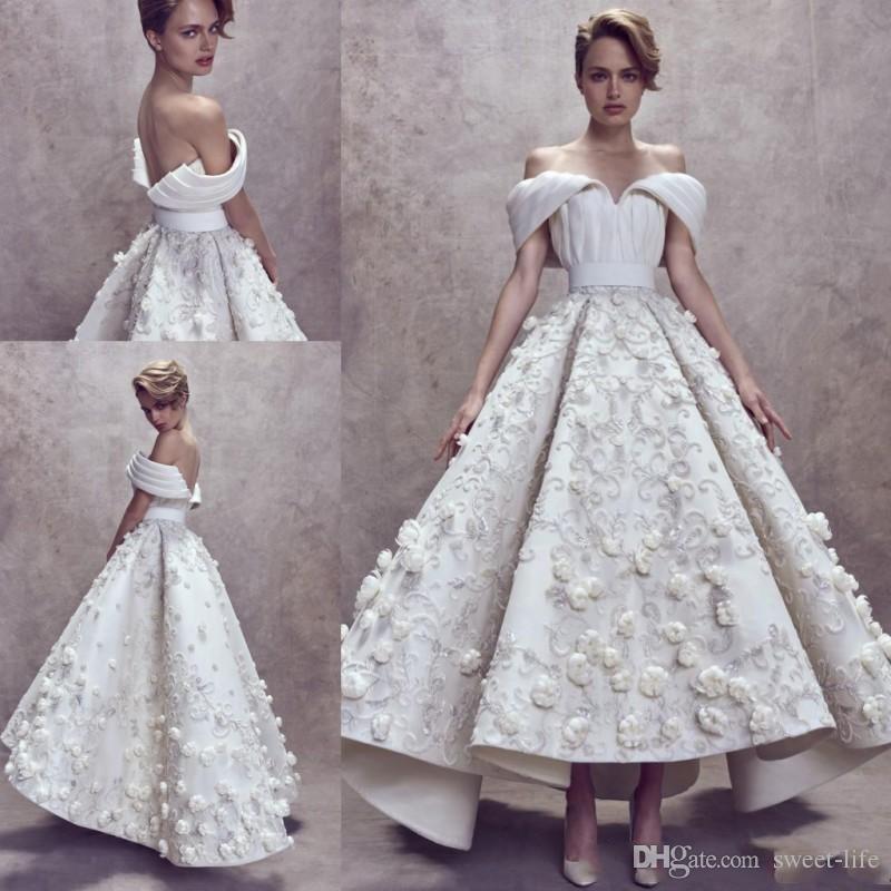 Promdress 2019 ashi studio 2018 2019 prom dresses high low 3d floral embroidery appliques  off shoulder SUVBVKJ