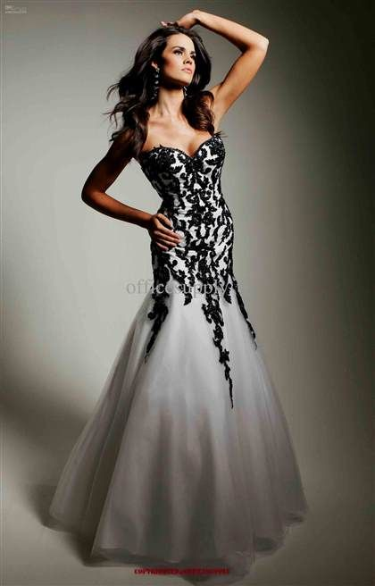 Promdress 2019 nice white and black lace prom dress 2018/2019 check more at  http://myclothestrend.com/dresses-review/white-and-black-lace-prom-dress -20182019/ RJFVSDQ
