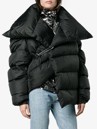 Puffer Coat ... marquesu0027almeida asymmetric puffer coat XFQQZGW