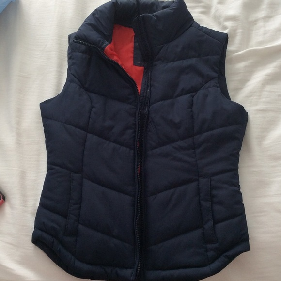 Puffy Vest navy blue puffy vest WGWJRKF