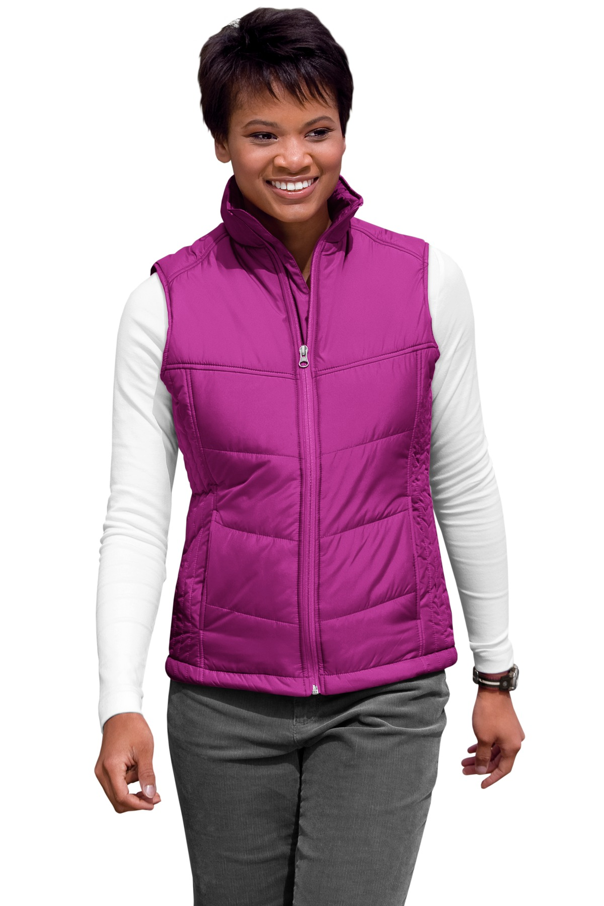 Puffy Vest port authority® ladies puffy vest TFZSVMG