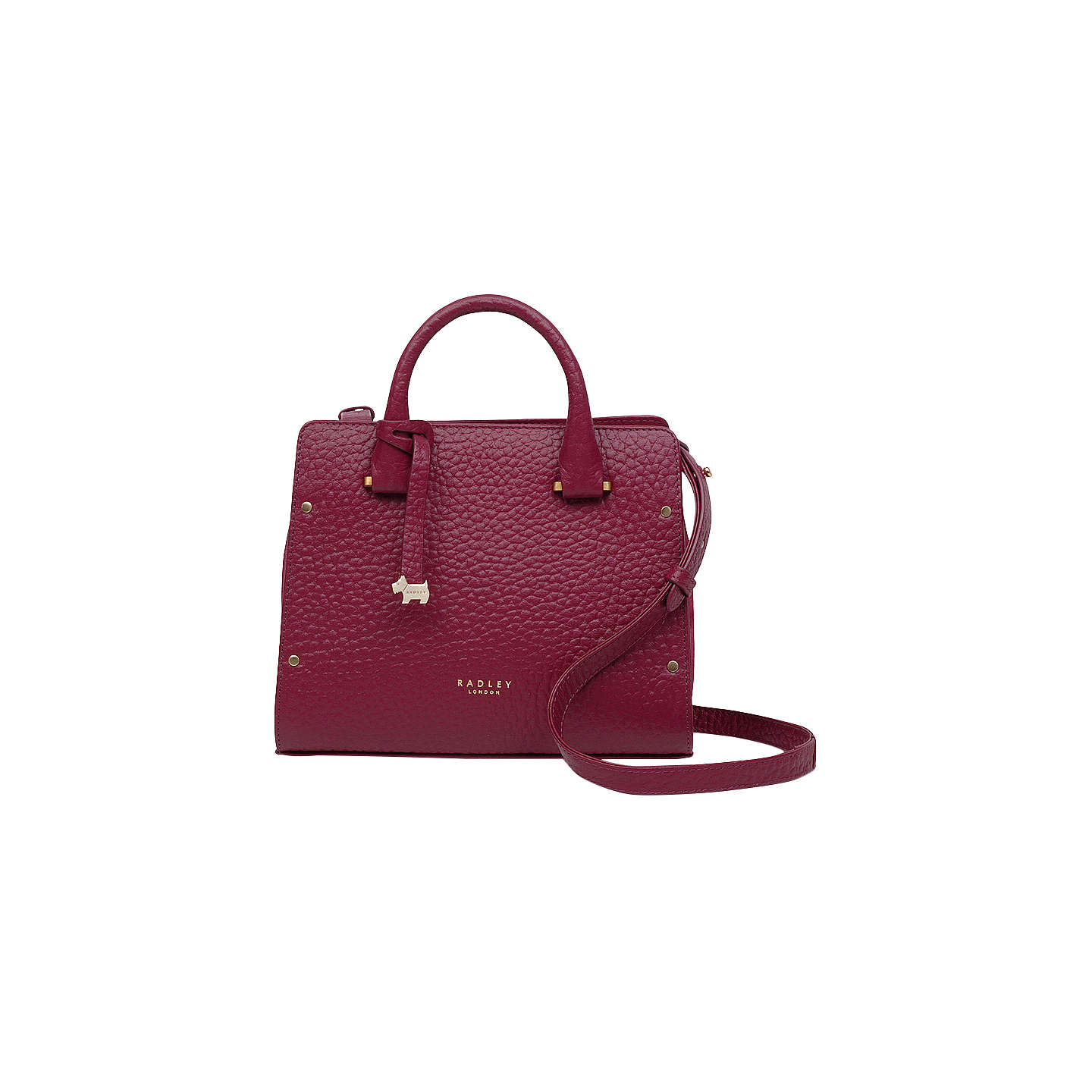Radley Bag buyradley bow lane leather grab bag, berry online at johnlewis.com ... BFGPDJW