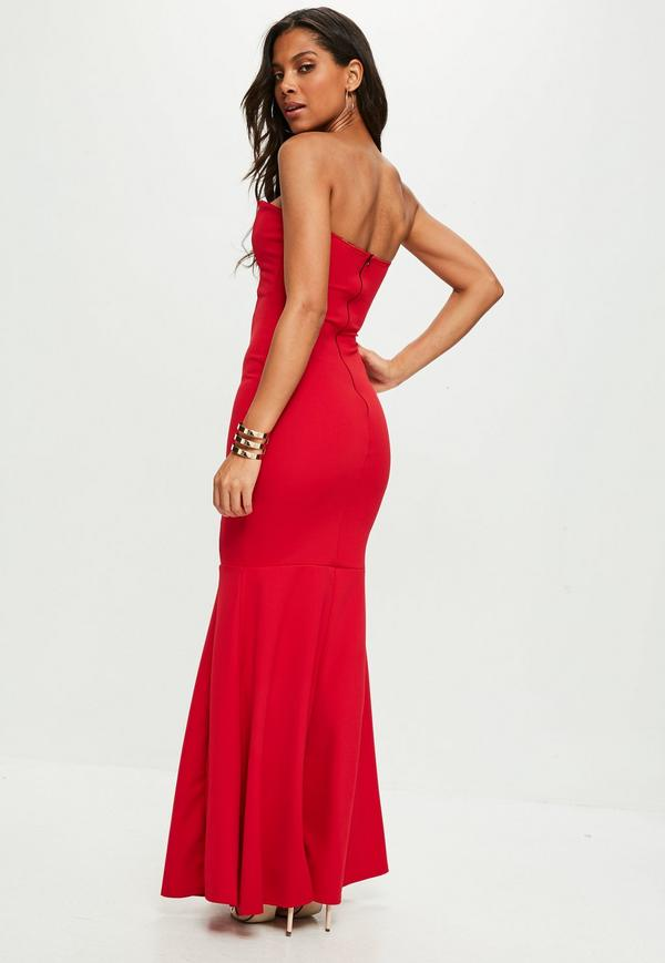 Fashion and style for all with bandeau maxi dress
