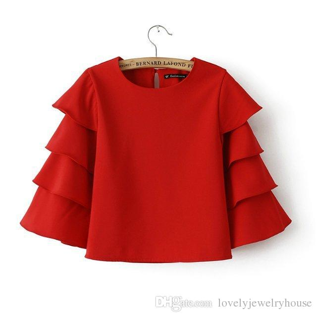 Red Blouse 80% cotton ,20% polyester INZYRWP