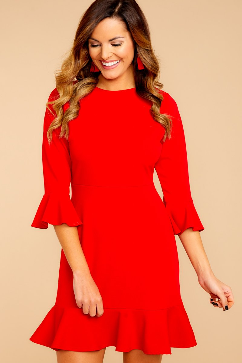 Red Dress adorable red dress - classy dress - dress - $34.00 - red dress boutique FILHQIW